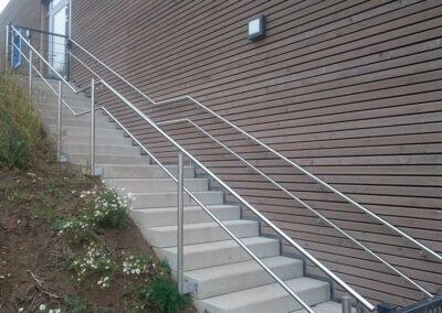 Handlauf für Treppen im Außenbereich