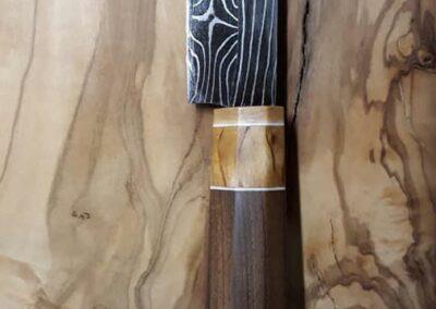 selbst geschmiedetes Küchenmesser von Ringler Metallbau