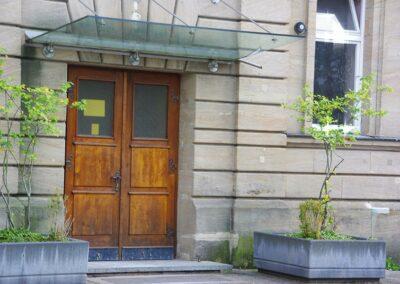 Vordach aus Glas von Ringler in Ansbach