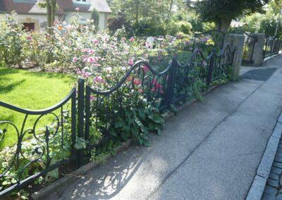 Anthraziter Zaun für den Garten